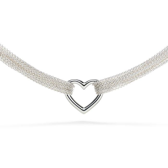 Elsa Peretti Open Heart Ten-Row Necklace