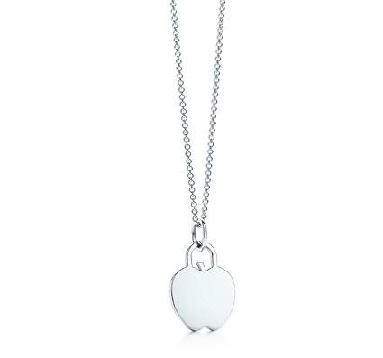 "Tiffany Apple Tag Pendant on an 16"" chain"