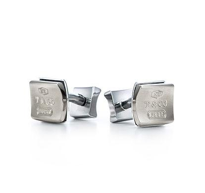 Tiffany 1837 Cuff Links Titanium Galaxy