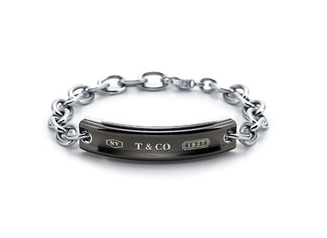 Tiffany 1837. I.D. bracelet in Midnight. 8'' long.