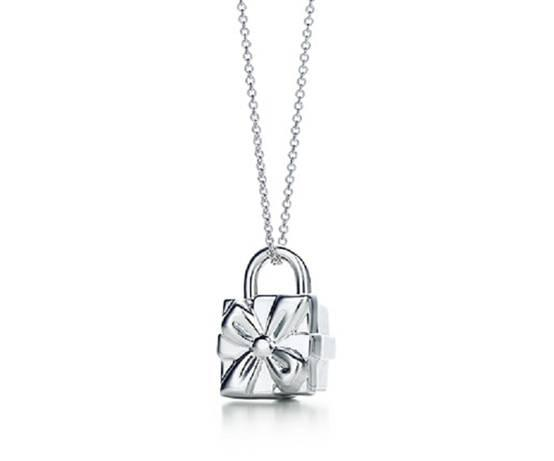 Tiffany Box Lock Charm Bracelet. Sterling Silver