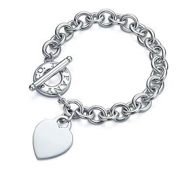 Tiffany & Co. Plain Heart Tag Toggle Link Lifesaver Bracelet
