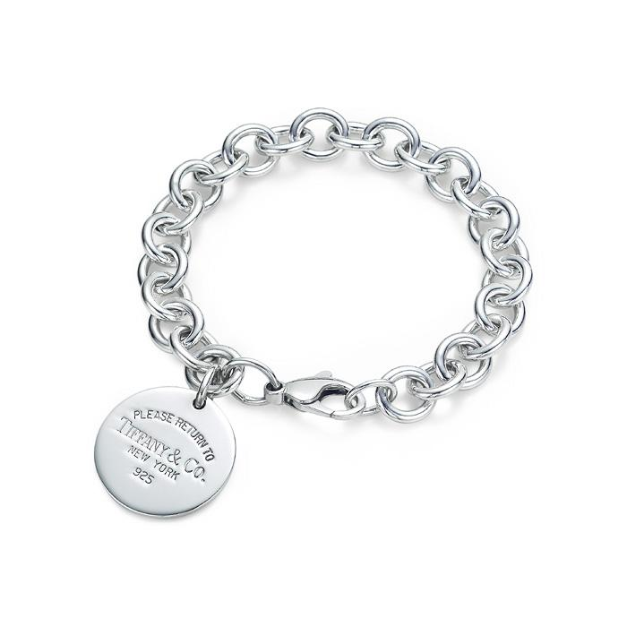 """Return to Tiffany"" Outlet Round Tag Bracelet"