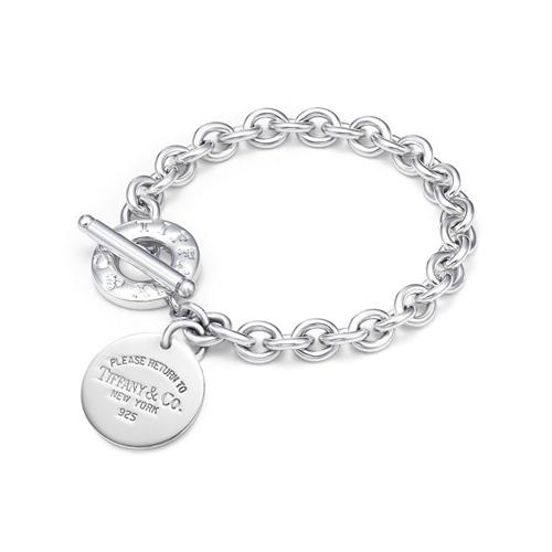 """Return to Tiffany"" Round Tag Toggle Link Lifesaver Bracelet"