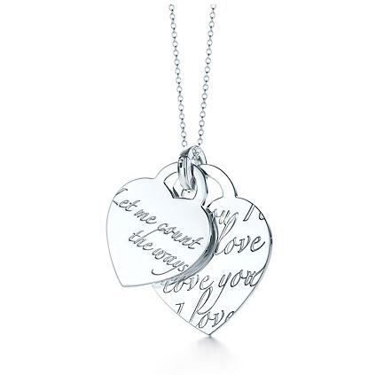 "Tiffany Notes ""Let Me Count The Ways"" pendant on a 16"" chain"