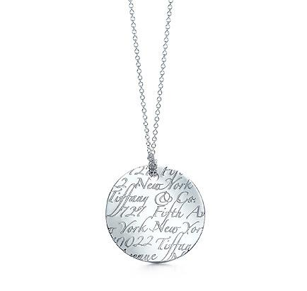 Tiffany Round Notes Pendant