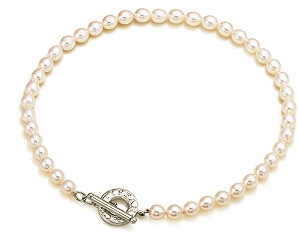 Tiffany Toggle Necklace With Cultured Pearls