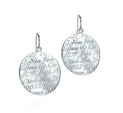 Tiffany & Co. Large Notes Round Tag Drop Earrings