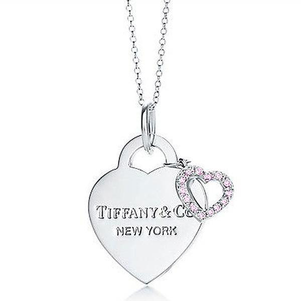 Tiffany Outlet Discount Hearts Pendant with Diamonds