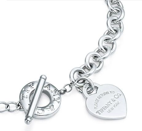 """Return to Tiffany"" Heart Tag Toggle Link Lifesaver Necklace"