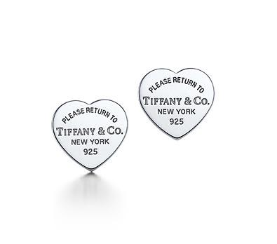 """Return to Tiffany"" Heart Tag Earrings"